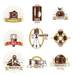 Retro Photographer Label Set vector image vector image