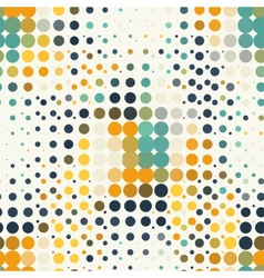 Seamless geometric pattern of halftone dots in vector image vector image