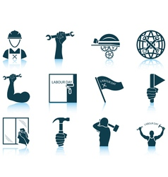 Set of labour day icons vector