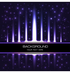 starry background with bright shiny vector image vector image