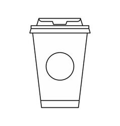 Take away coffee cup icon outline style vector image vector image