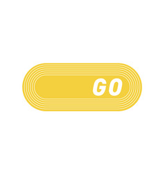 Ui interface yellow button play media internet vector
