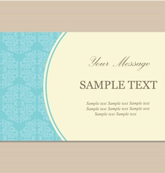 Vintage bussiness card vector