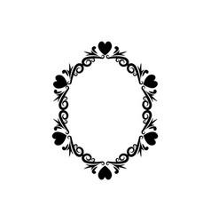 Vintage romance border frame decoration romantic vector