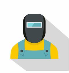 Welder icon flat style vector