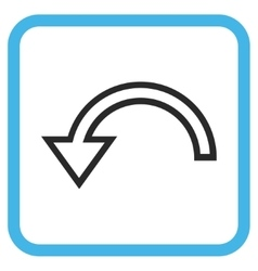Rotate left icon in a frame vector