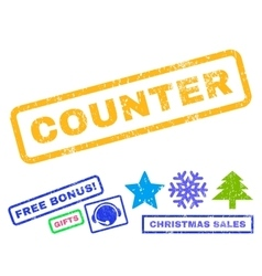 Counter rubber stamp vector