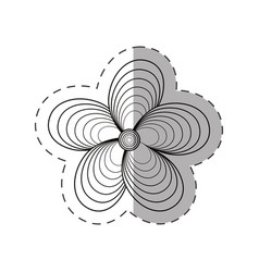 jasmine flower decoration monochrome vector image