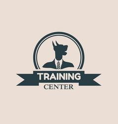 pet emblem design vector image
