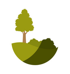 Tree land bush environment plant image vector