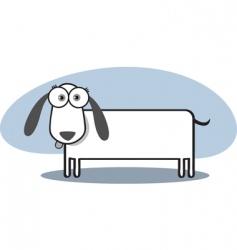 square animal  dog vector image