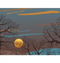 winter wood vector image