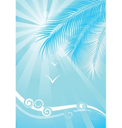 Summer blue background vector