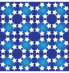 Seamless pattern of white stars vector image