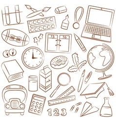 School education icons vector