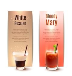 Cocktails banner set vector image