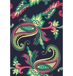 Paisley pattern on black background vector