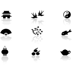 asian symbols vector image