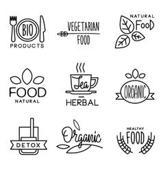 Organic food and drink label vector