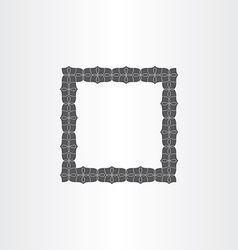 Gray decorative square frame vector