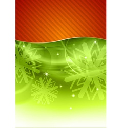 christmas background in the red and green vector image