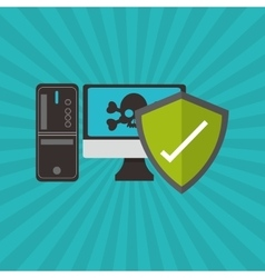 Graphic design of security system vector