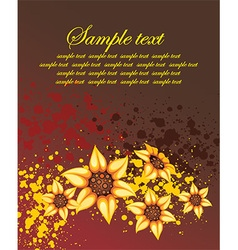 Grunge floral background with a text space vector