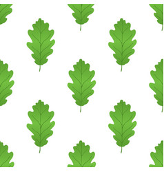 acorn leaf seamless pattern cartoon style vector image vector image