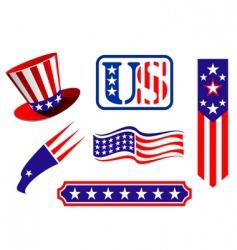 American patriotic symbols vector image vector image