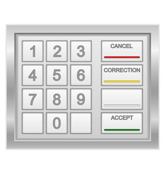 atm keyboard stock vector image