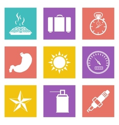 Color icons for web design set 29 vector