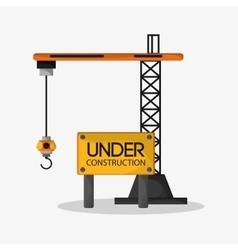 Crane of under construction design vector