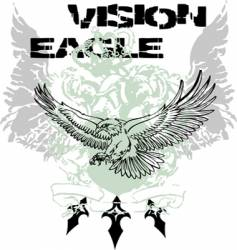 Eagle flying design vector