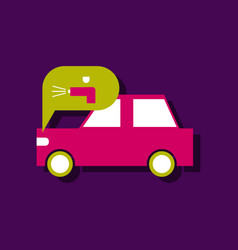 Flat icon design collection car and sound signal vector