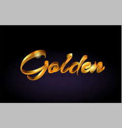 golden gold text word on purple background vector image vector image