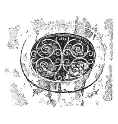 Grille ventilation or discreet observation vector