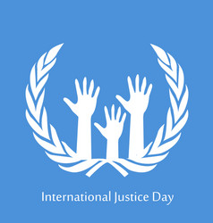 International justice day text vector