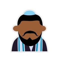 Man cartoon icon israel culture design vector