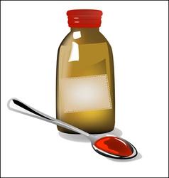 Medicinal syrup vector