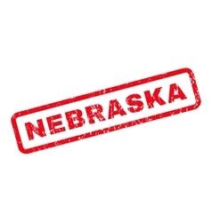 Nebraska Rubber Stamp vector image