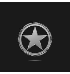 Silver star symbol vector image