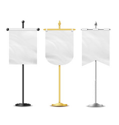 small table flag set white blank vector image