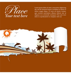 summer background through a hole in a paper vector image