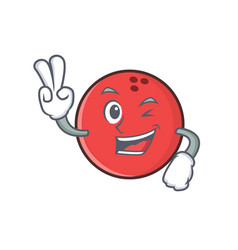 Two finger bowling ball character cartoon vector