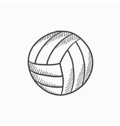 Volleyball ball sketch icon vector image vector image