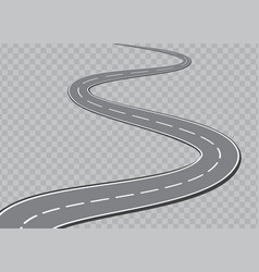 Winding road isolated transparent special effect vector
