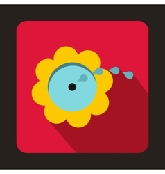 Flower spinkler icon flat style vector