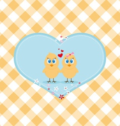 Easter chicken in love vector image