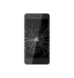 Smartphone with broken screen vector image