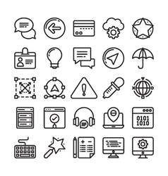 Web design and development colored icons 4 vector